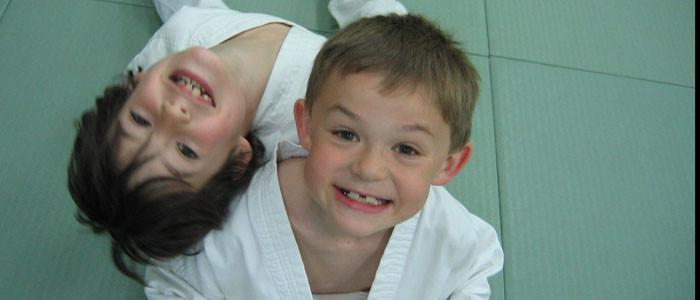 Smiling judo kids